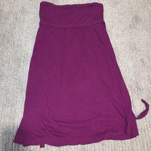 Purple strapless American Eagle dress w/ braiding